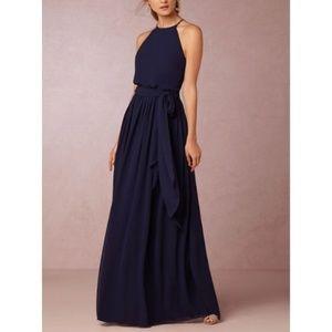 BHLDN Donna Morgan Alana Dress in Midnight Blue